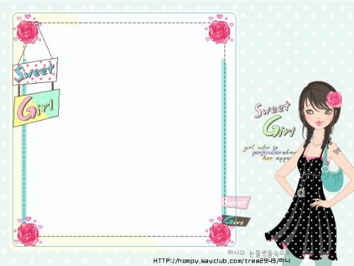 可爱的韩国信纸(写日志的时候用很好看哦)