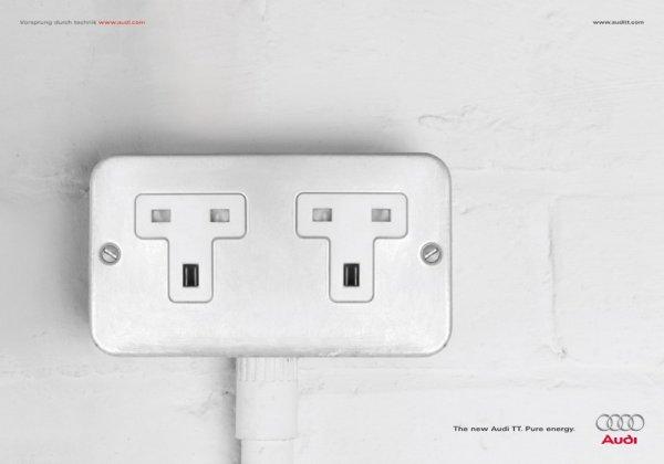 广告堪称经典.广告创意:新奥迪tt,新能量! 同样是来自意大利米高清图片