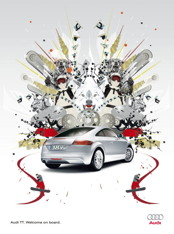 新奥迪tt的创意广告集锦高清图片