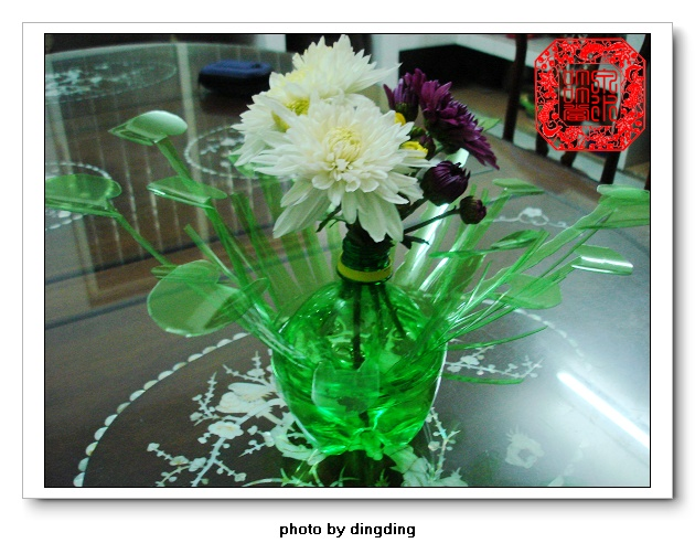雪碧瓶子做花盆步骤