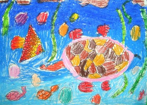 绘画:阮怀萱《海底世界》
