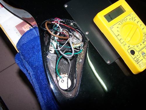 电吉他切单接线图