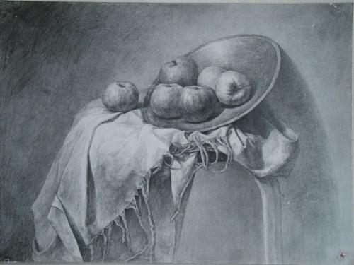 素描立体苹果怎么画图片_素描立体苹果怎么画图片下载; 黑·白·灰;