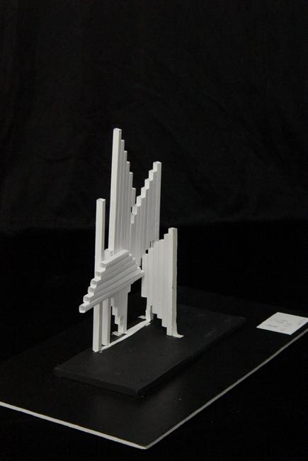 木头立体构成艺术模型