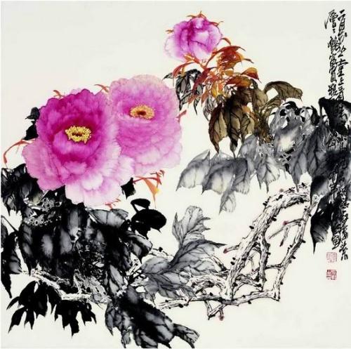 中国画牡丹的画法 - 宋达