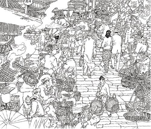 东北风情手绘图