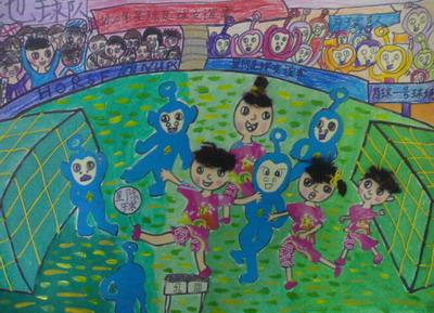 画我的足球梦_我的足球梦画画图片