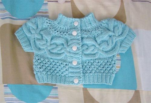 织的手工宝宝毛衣,附图解说明.鞋子织法在第9页-准