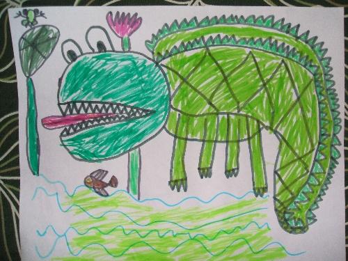 儿童画创意自画像