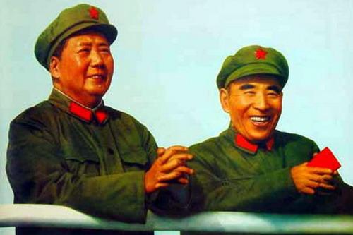 毛泽东与林彪在天安门上