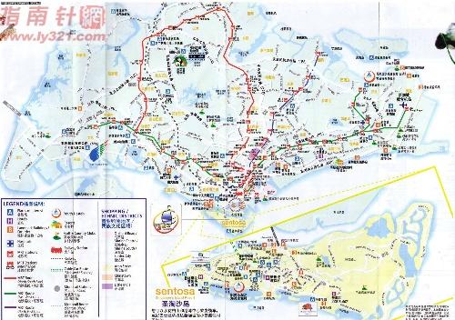 中英文双语对照的新加坡地图