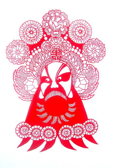 我喜欢京剧脸谱的图画,但不喜欢化在真人脸上的油彩.图片