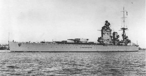 二战英国无畏型战列舰