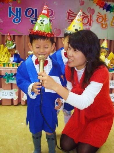 儿子在幼儿园过生日(配图)