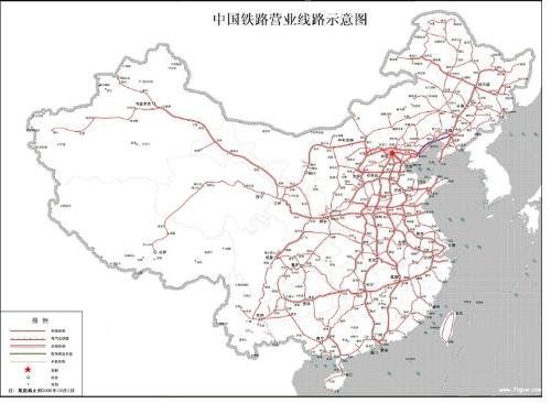 中国铁路详细地图研究