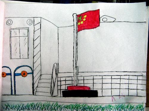 校园一角-东苑小画家-搜狐博客; 校园一角风景速写; 含有角的画 手
