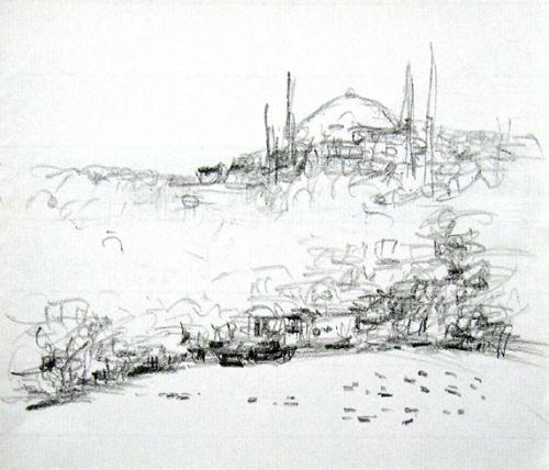 铅笔景物素描步骤图片