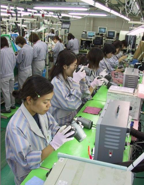 参观日本佳能单元生产拍摄的照片 黄杰培训资