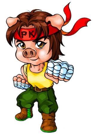 可爱小猪正面头像