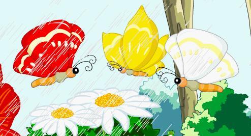卡通蝴蝶简笔画彩色