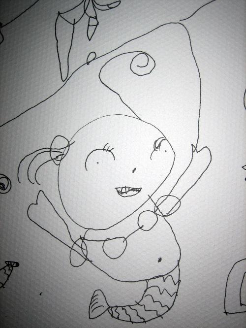 小学六年级可爱公主简笔画花